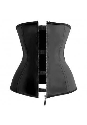 Black Latex Training Corset Dress