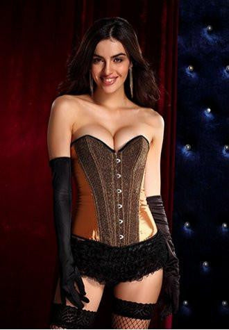 Brown Burlesque Corset Dress