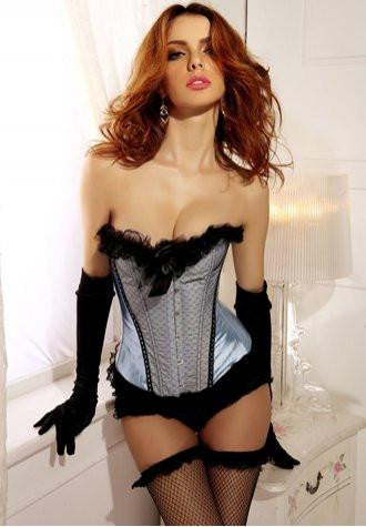 Burlesque Bow Strapless Corset Dress
