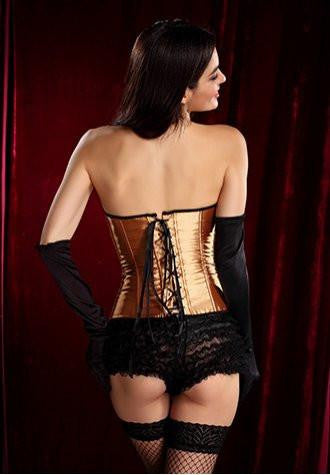 Bronze Burlesque Corset Dress
