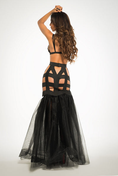 Black Alluring Mermaid Lingerie Dress