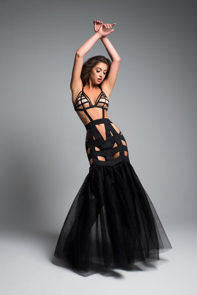 Alluring Black Mermaid Lingerie Dress