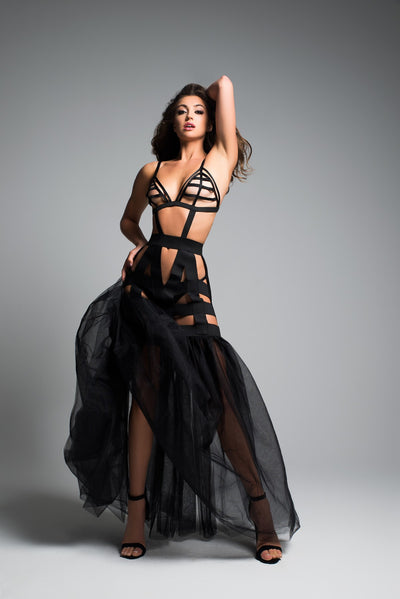 Amazing Black Mermaid Lingerie Dress