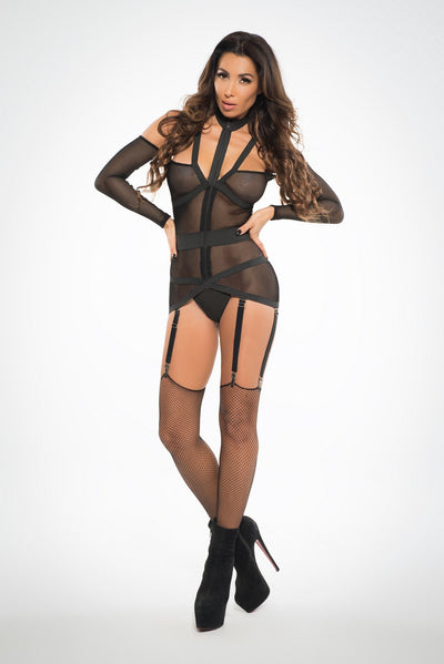 Black Sexy Strappy Corselette
