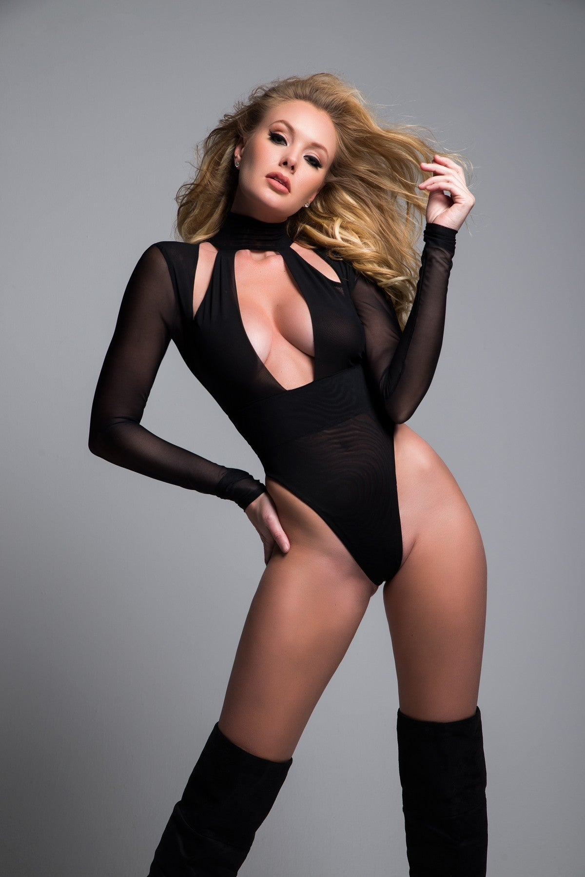 Long Sleeve Sheer Bodysuit
