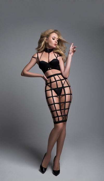 Hot Edgy Cage Lingerie Set