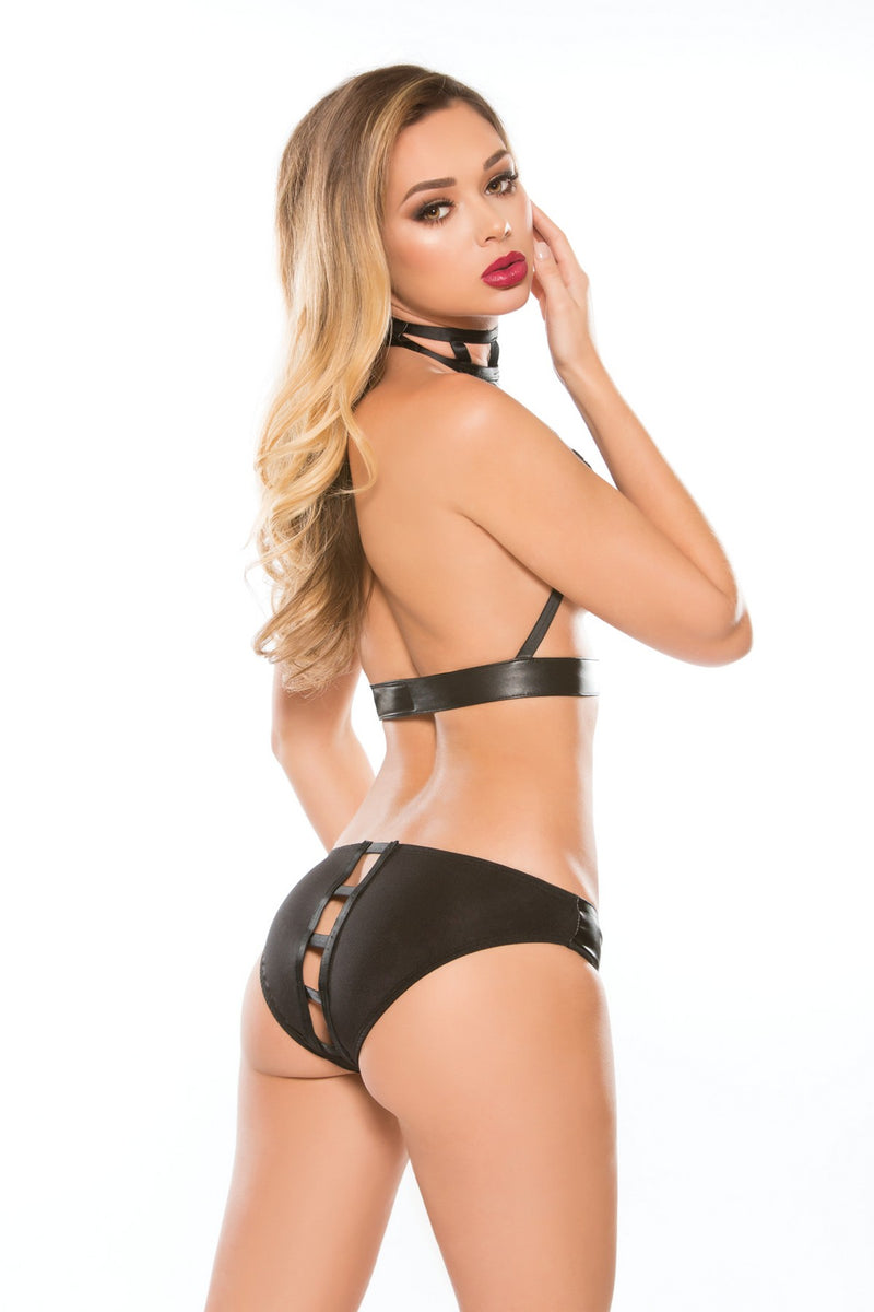 Playful Two Piece Crotchless Lingerie
