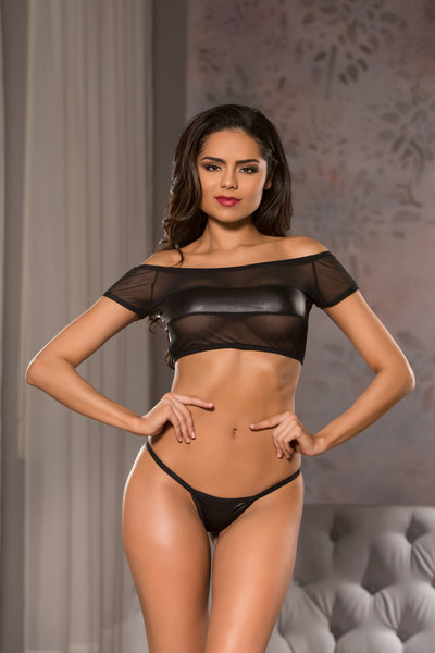 Lingerie Crop Top Set