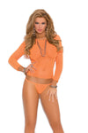 Neon Orange Lingerie Set