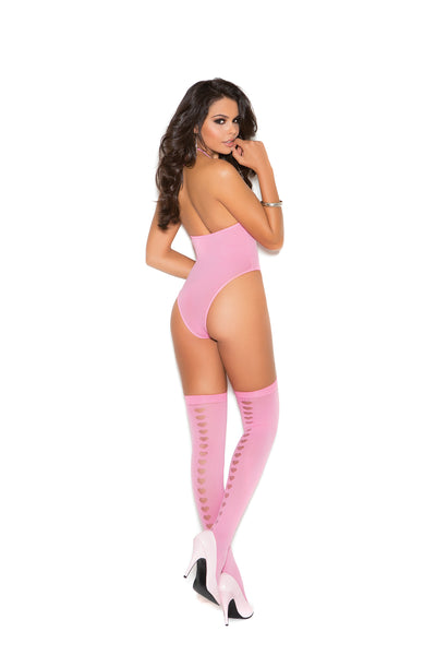 Sexy Pink Teddy Lingerie Sets