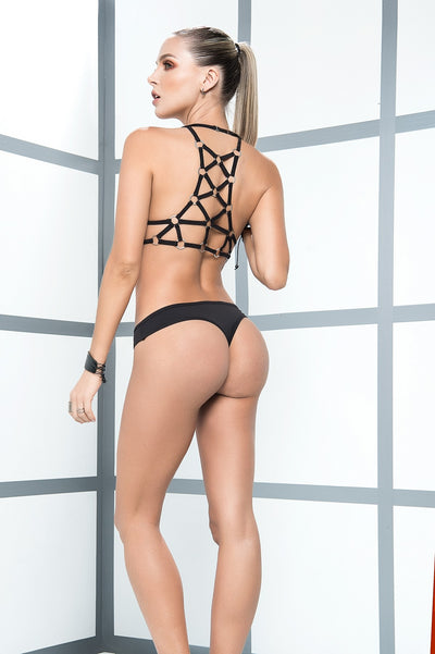 Sexy Black Triangle Top Lingerie Set