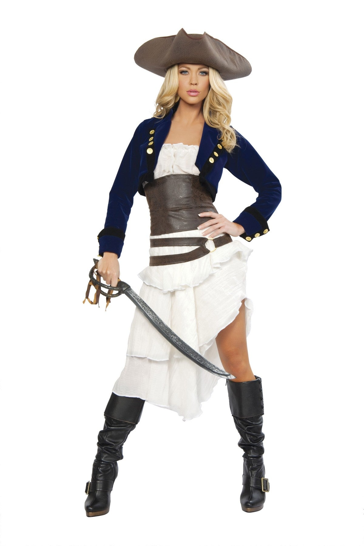 Deluxe Colonial Lady Pirate Costume Set