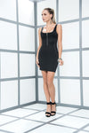Cool Slinky Black Mini Dress