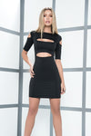 Black Cutout Style Mini Dress