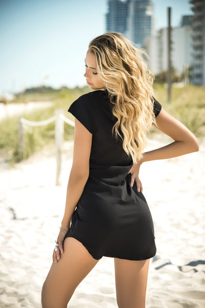 Sexy Black Lace Up Dresses