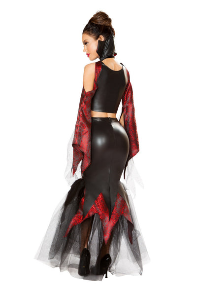 Amazing Luxury Female Vampire Outfit Set