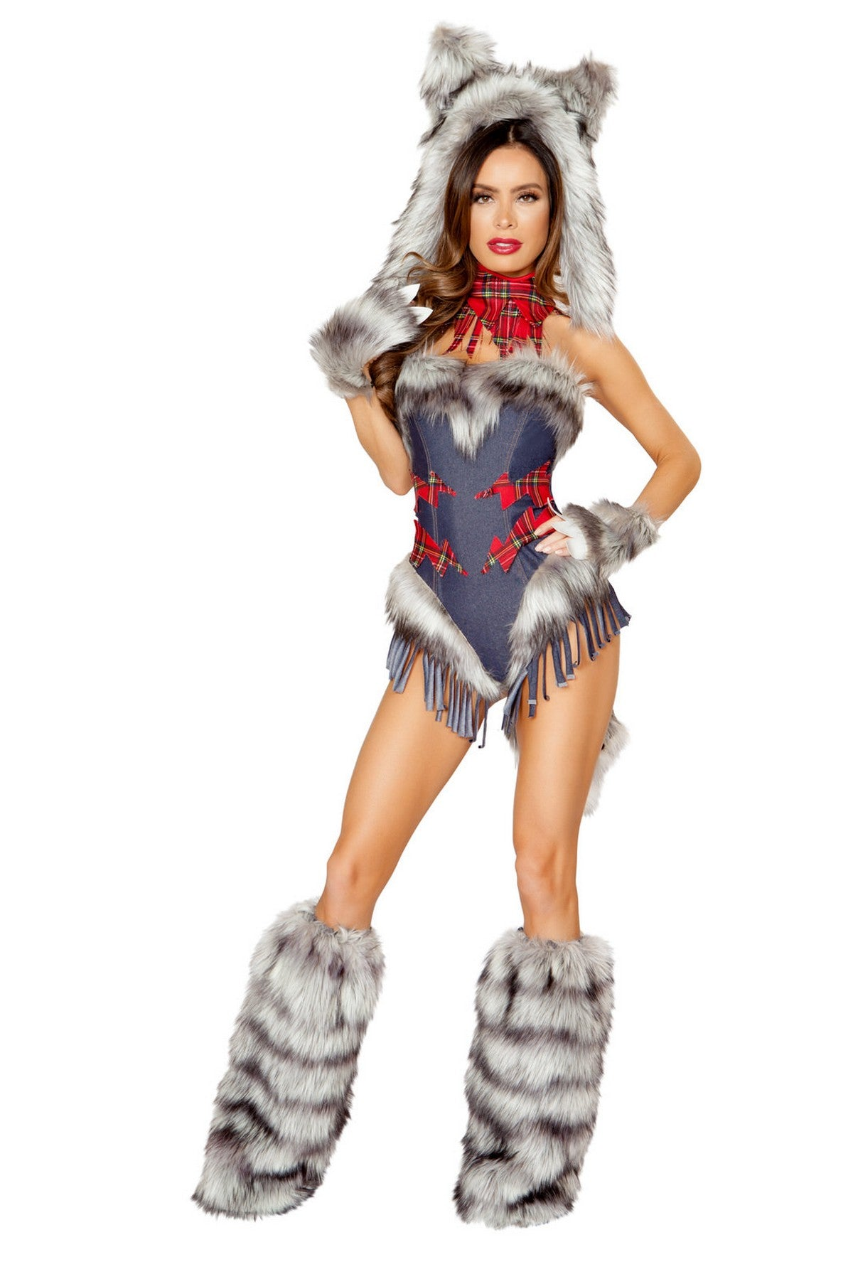 Deluxe Seductive Girl Wolf Outfit Set