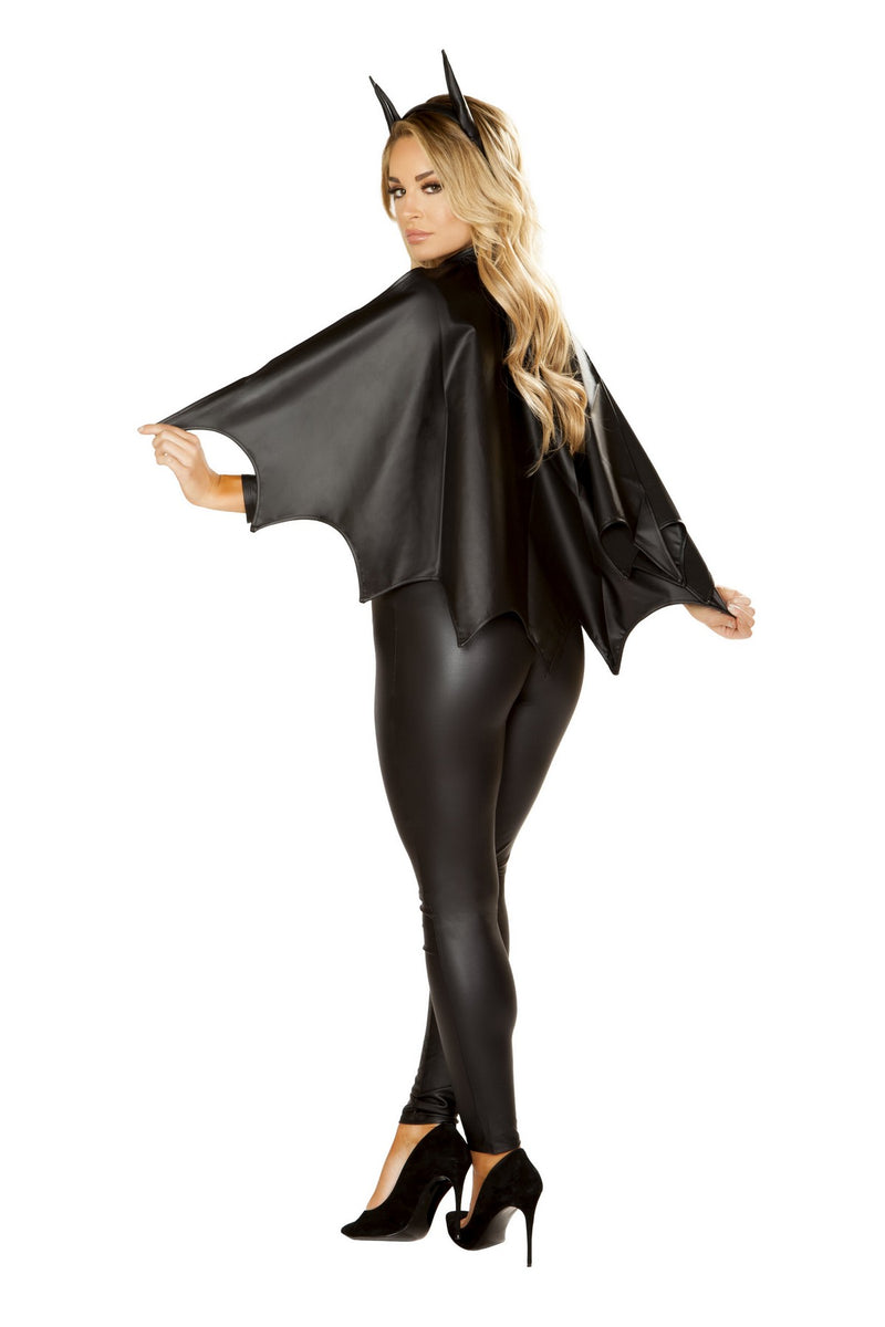 Black Sexy Bat Crusader Costume Set