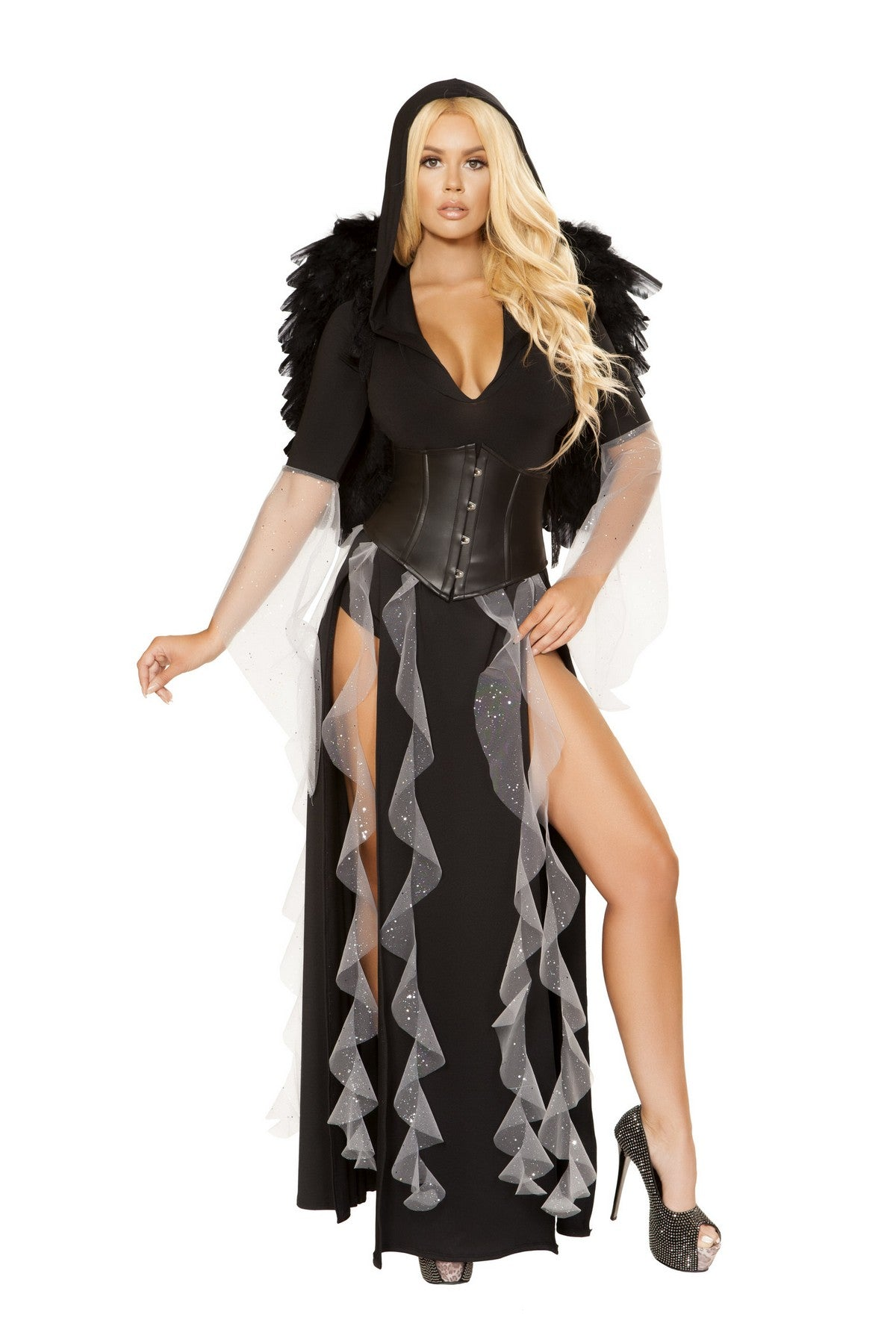 Black Deluxe Midnight Angel Costume  Set