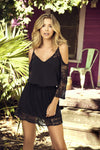 Black Off The Shoulder Beach Dress