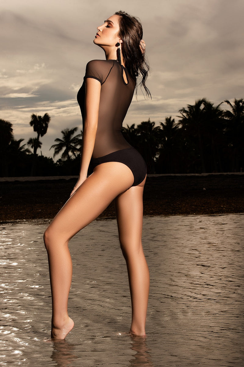 Exquisite Sheer One Piece Swimsuit