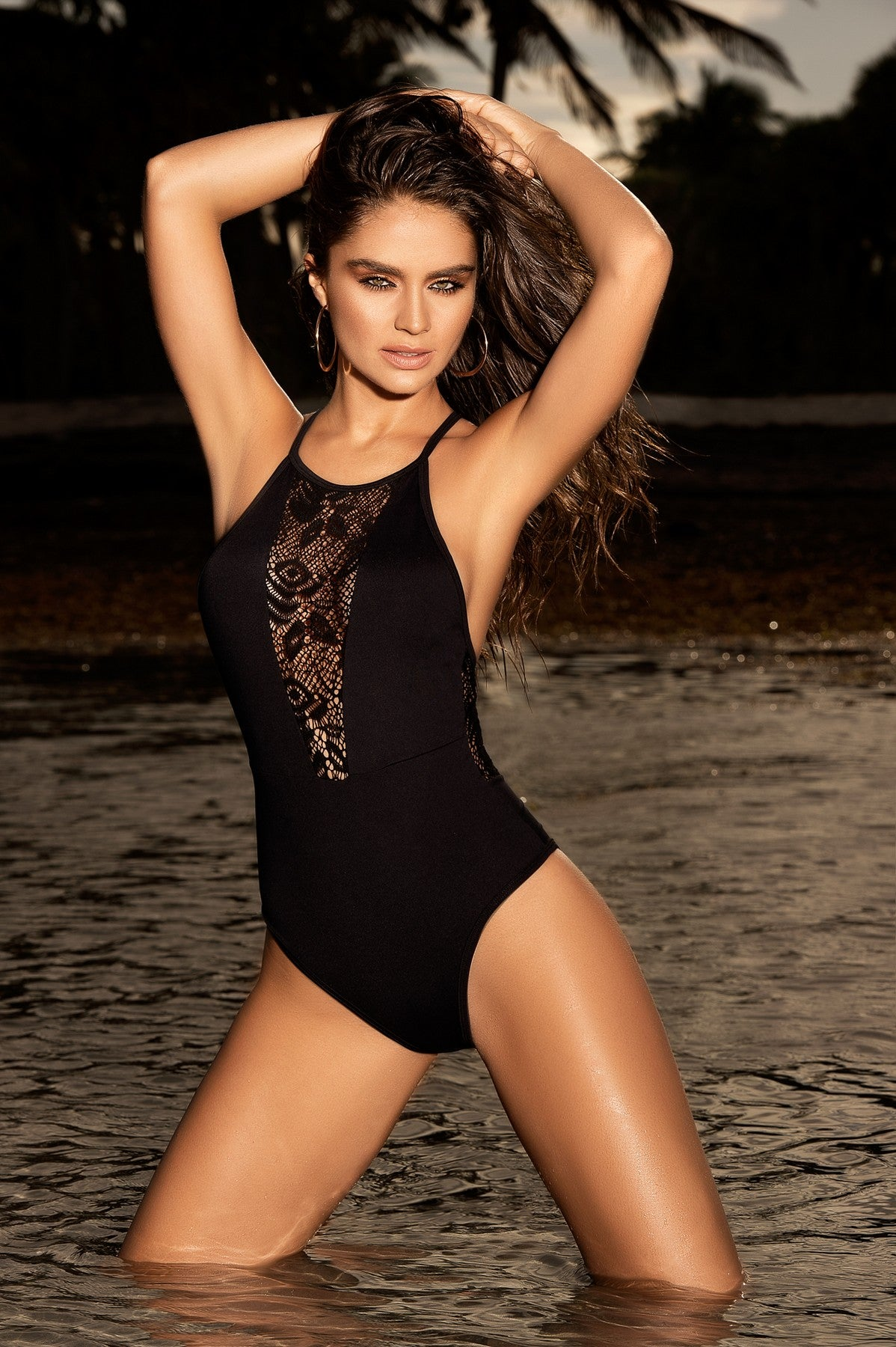 Crochet Netting One Piece Swimwear