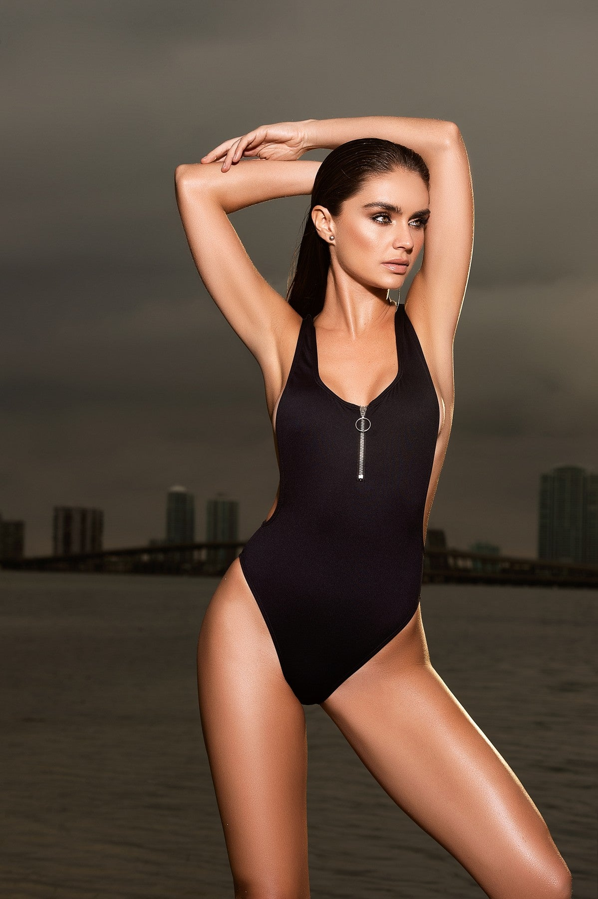 Sexy Black One Piece Swimwear