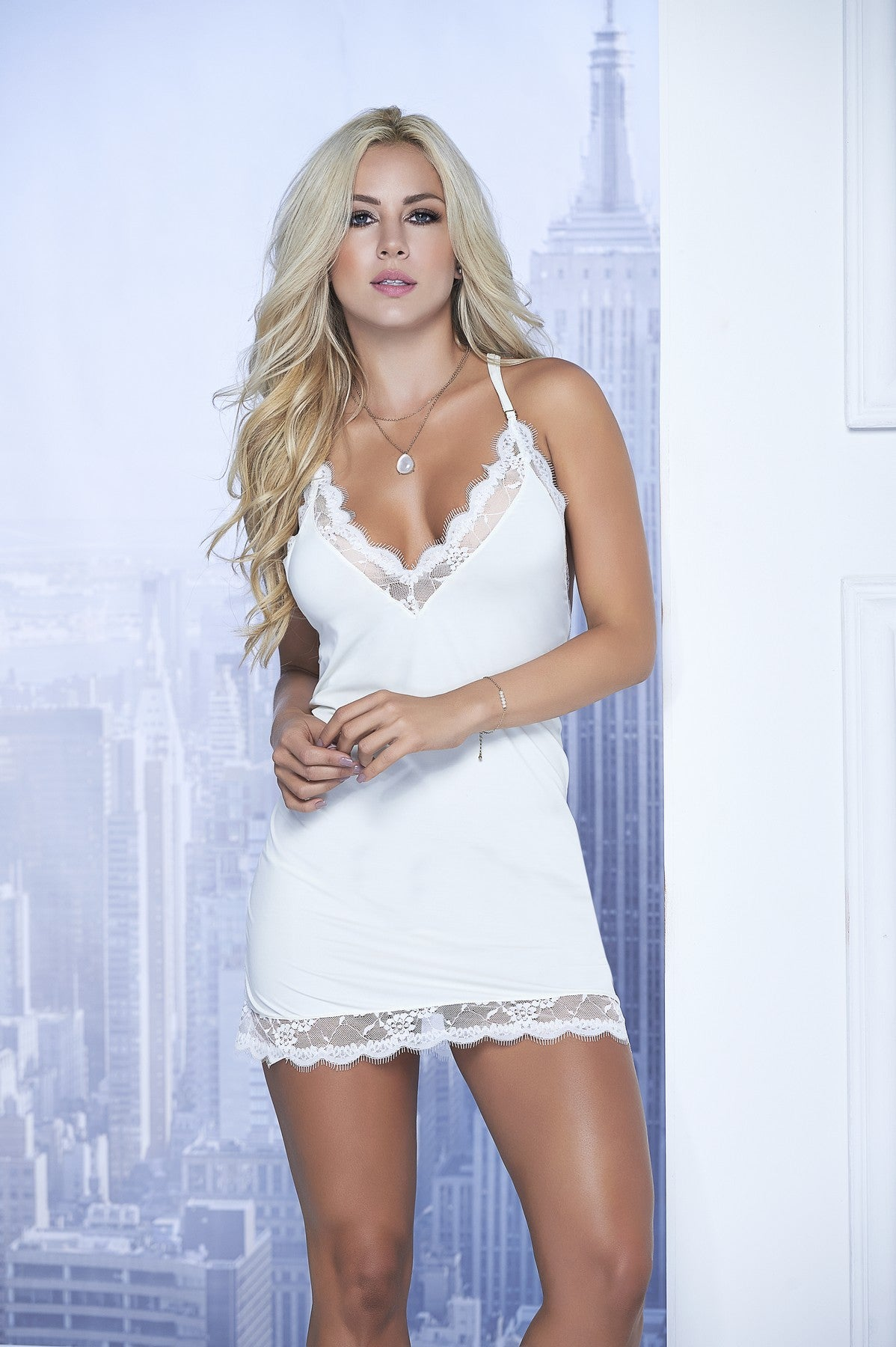 White Seductive Lace Lingerie