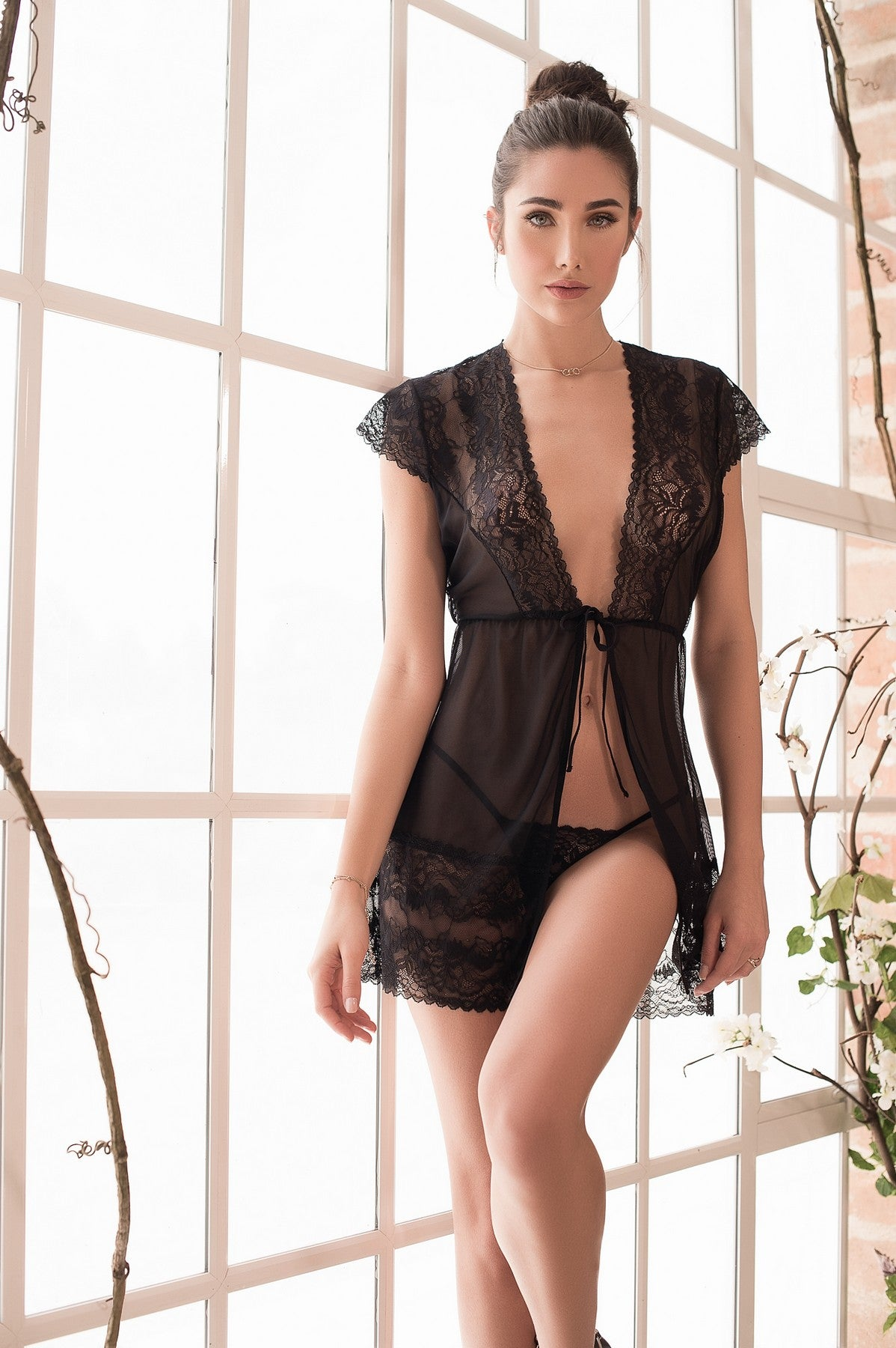 Seductive Lace Robe Set