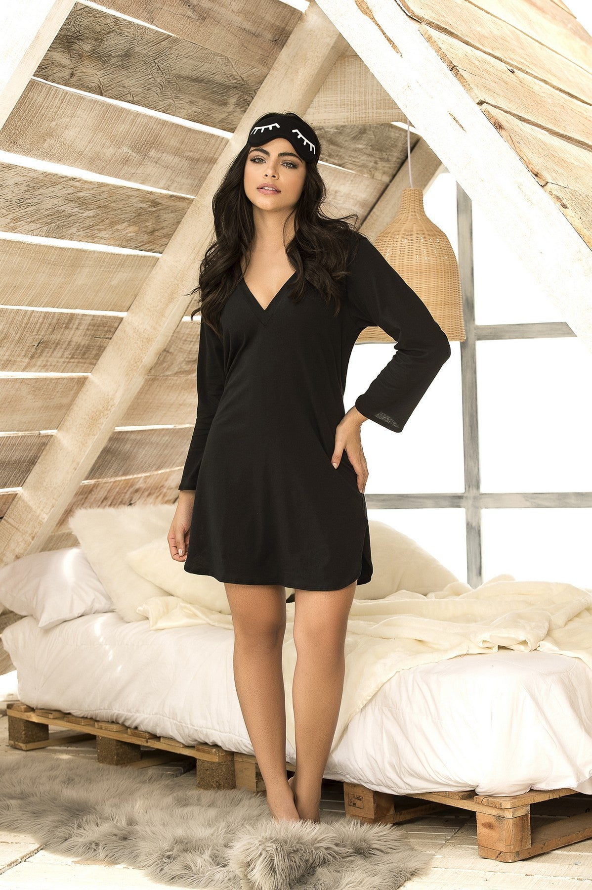 Black Hooded Loungewear