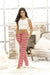 Candy Cane Loungewear Pant Set