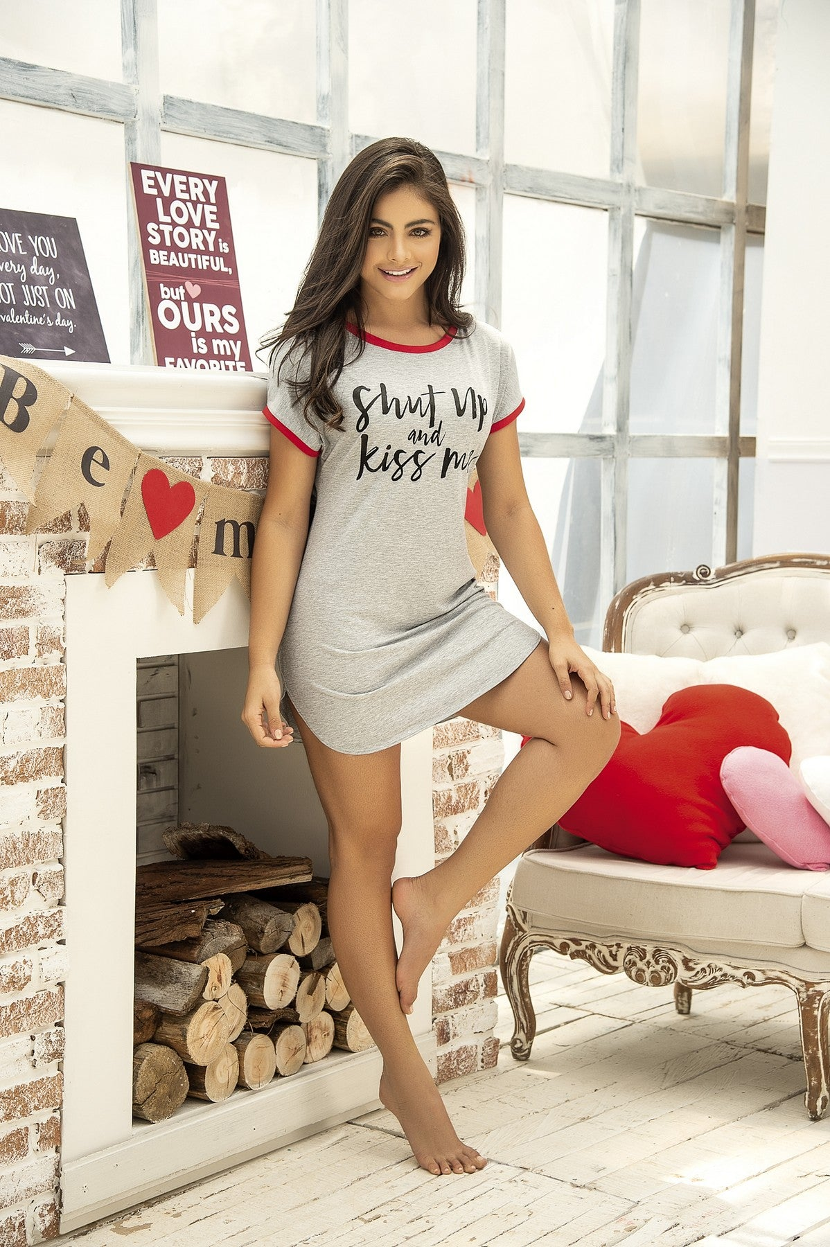 Shut Up & Kiss Me T-Shirt Dress
