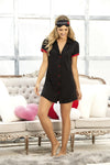Black Pretty Sleeve Nightgown