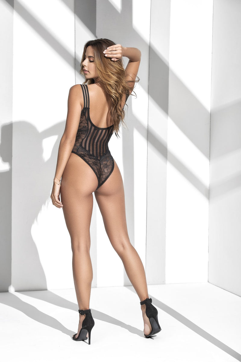 Figure Flattering Stripped Sheer Teddy