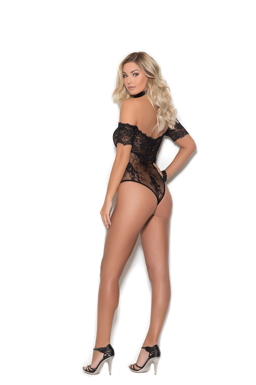 Off Shoulder Lace Teddy Lingerie