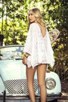 White Lace Kimono Beach Cover Up