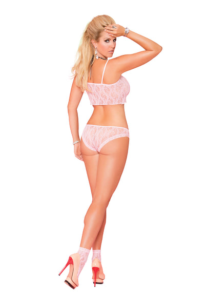 Baby Pink Plus Size Two Piece Sets