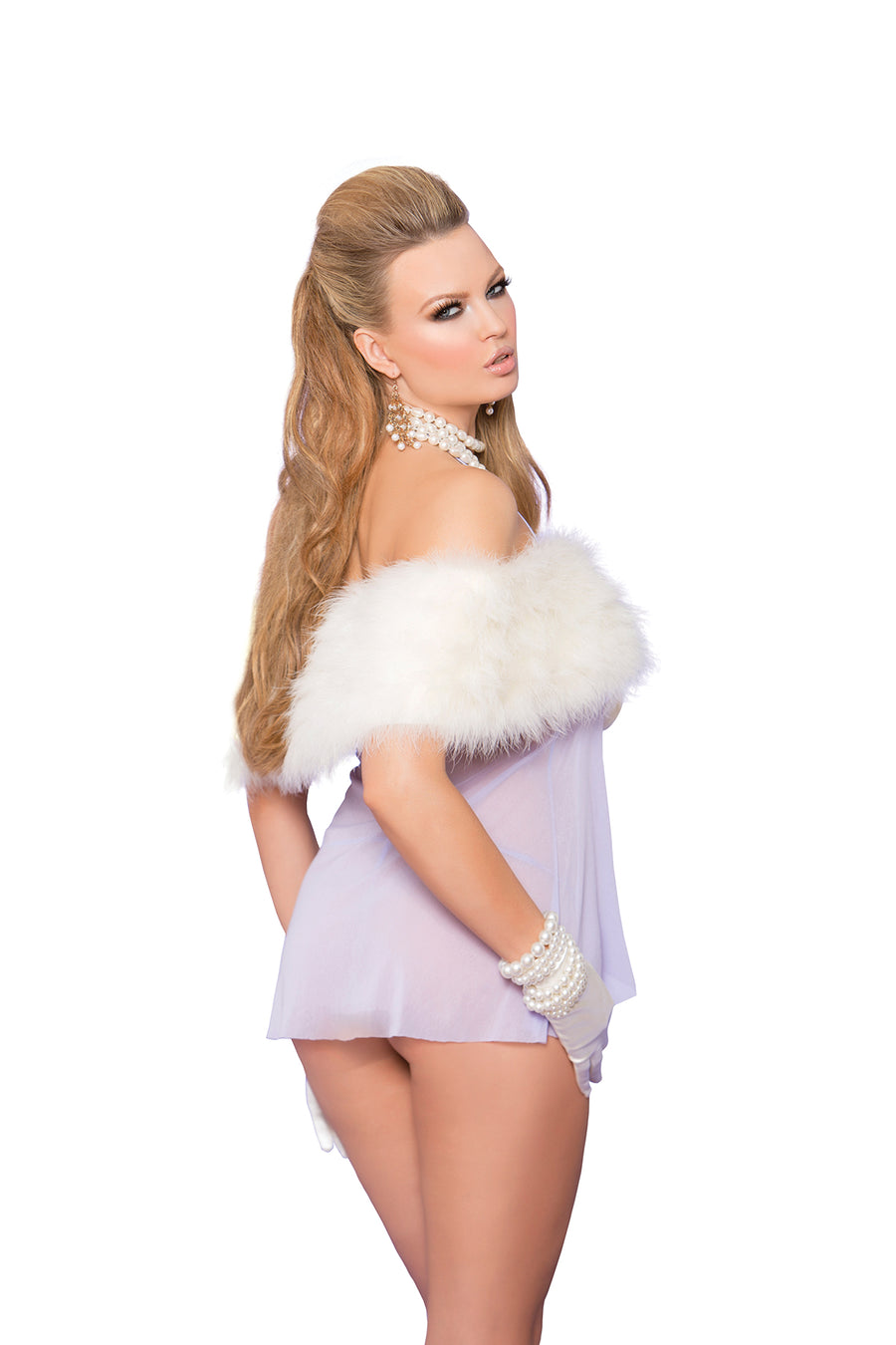Flirty Flyaway Lilac Babydoll Dress