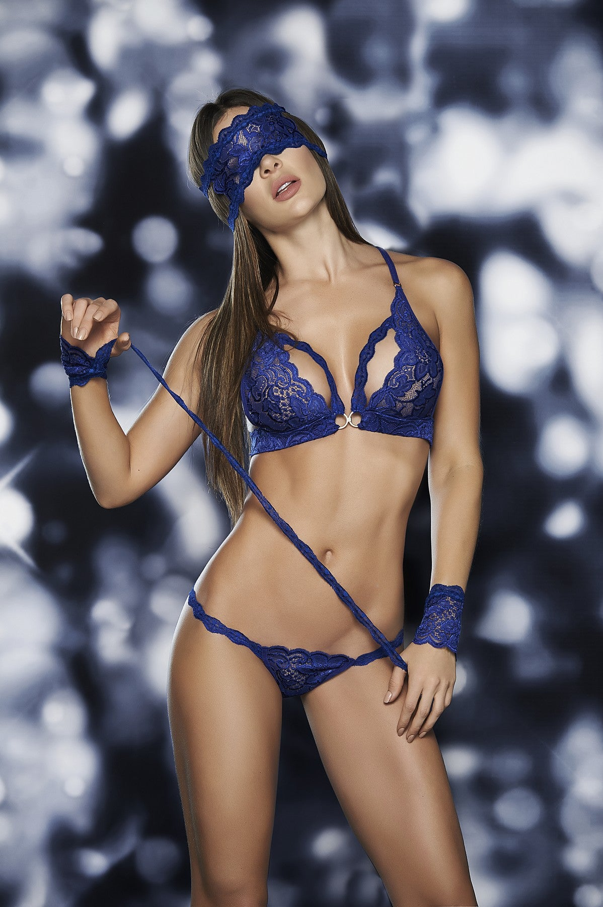 Four Piece Hot Lace Bra Set
