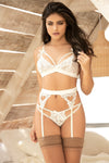 Lace Three Piece Lingerie Set