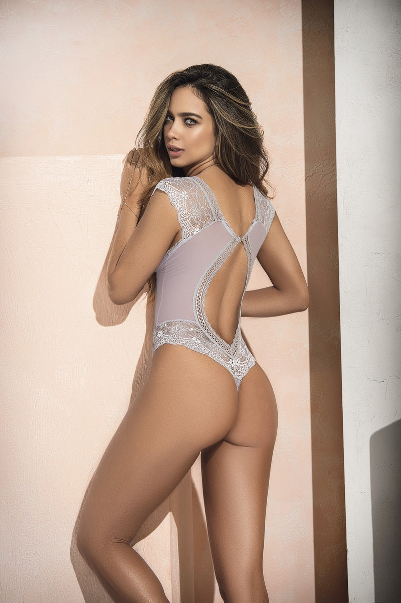 Daring Sheer Lace Teddy Lingerie