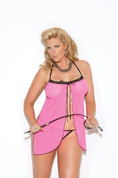 Hot Plus Size Pink Lingerie