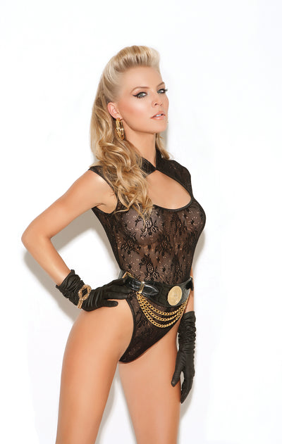 Black Sexy Sleeveless Teddy Lingerie