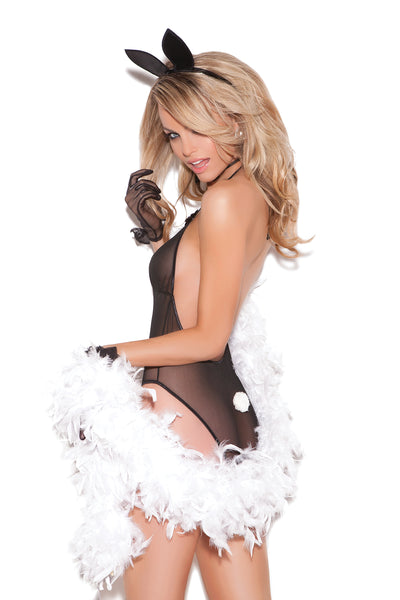 Hot Black Bunny Teddy Lingerie