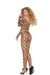 Diamond Net Two Piece Bodystocking
