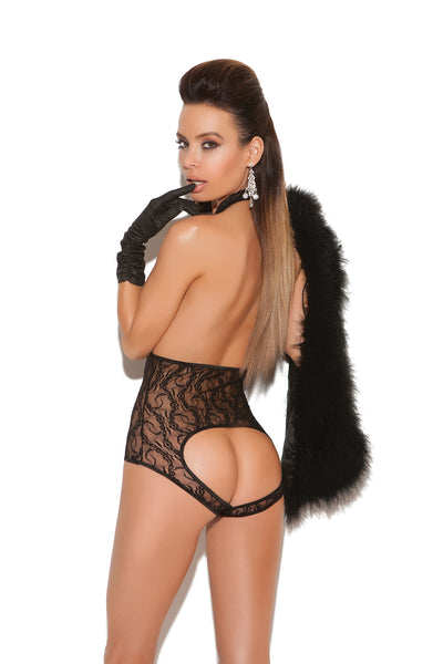 Black Lace Cupless Teddy Lingerie
