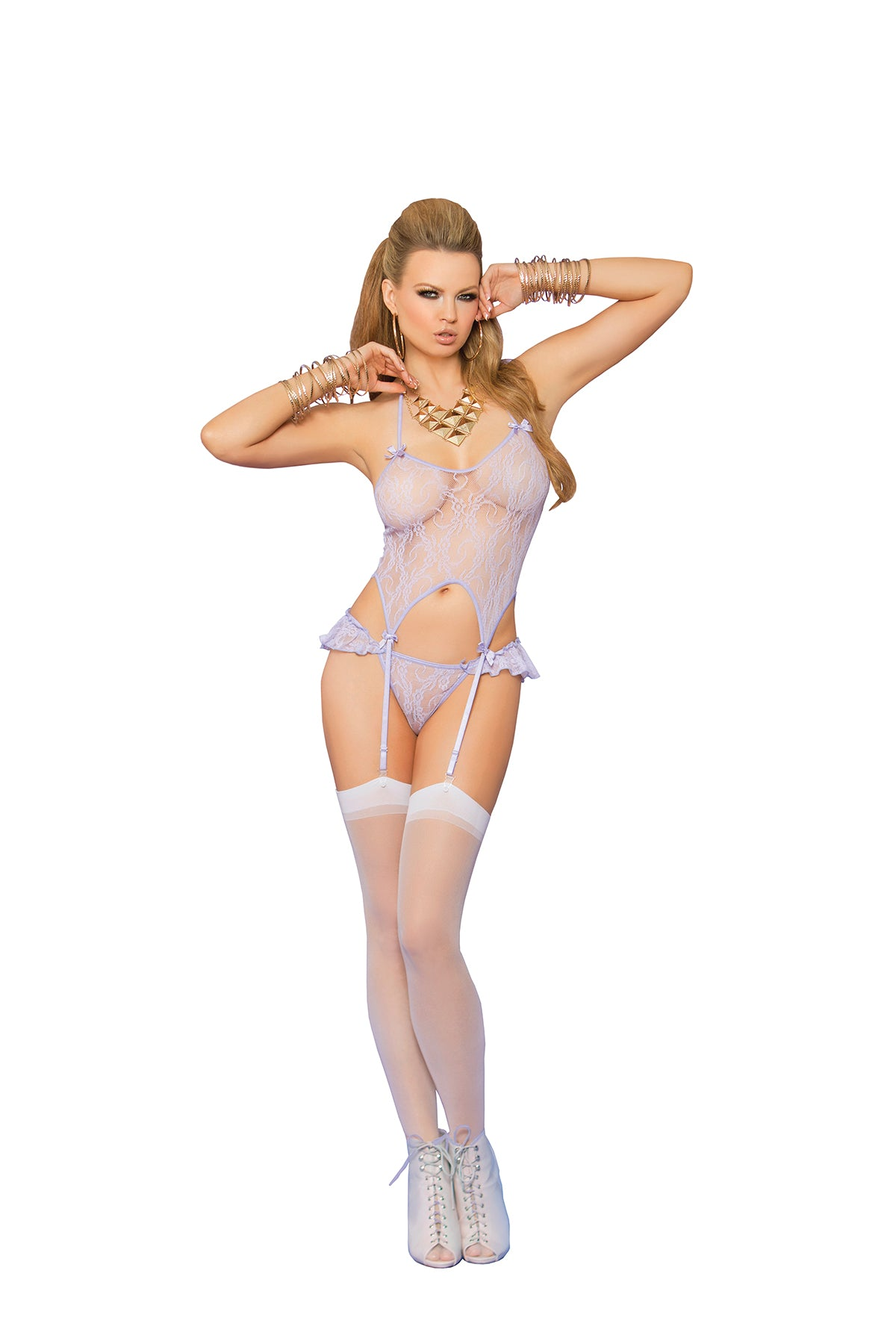 Hot Lace Sheer Camisole Set