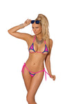 Hot Neon Pink Tiny String Bikini