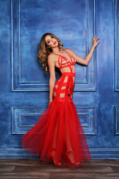 Valentine Red Mermaid Dress