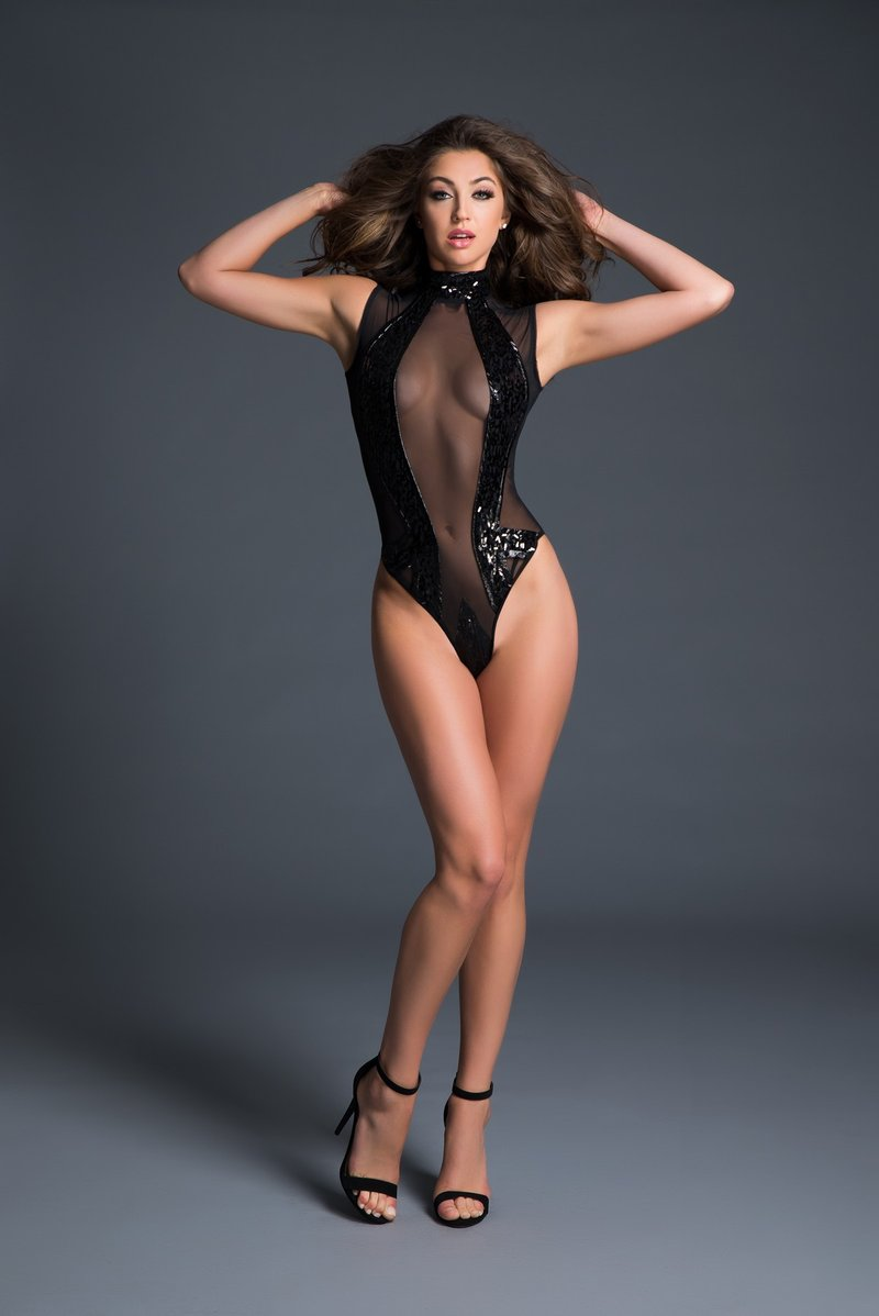 Enchanting Sequin Bodysuit Lingerie